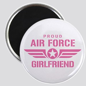 Proud Air Force Girlfriend W [pink] Magnet